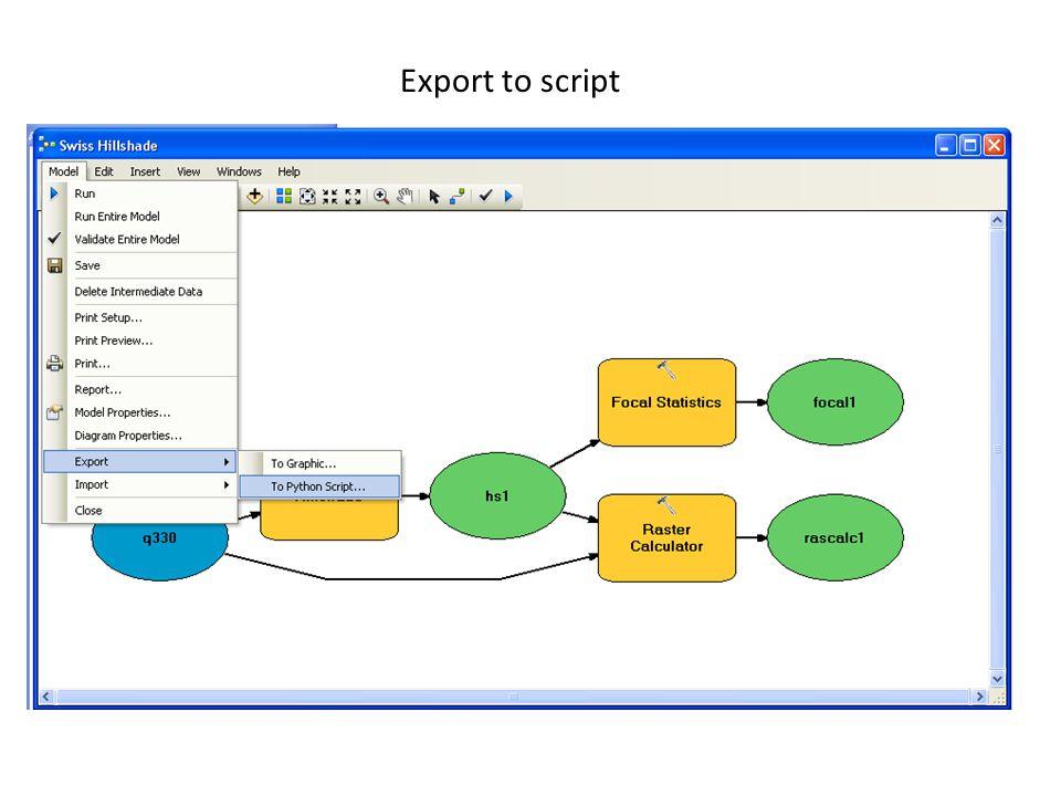Export to script