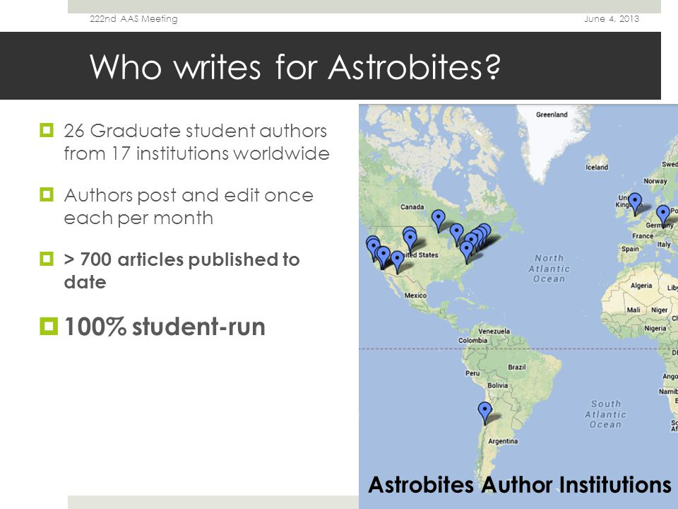 Beyond the Blog  Astrobites as a classroom resource (N.E.