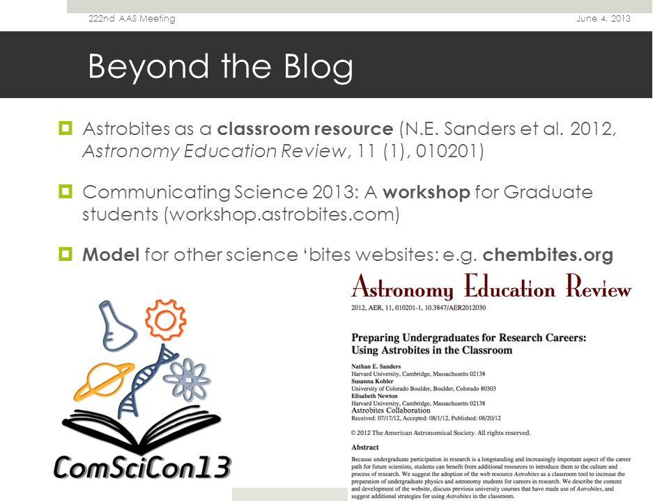 Thanks.June 4, 2013222nd AAS Meeting astrobites.org Nick Ballering (U.