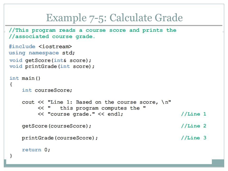 Example 7-5: Calculate Grade 20