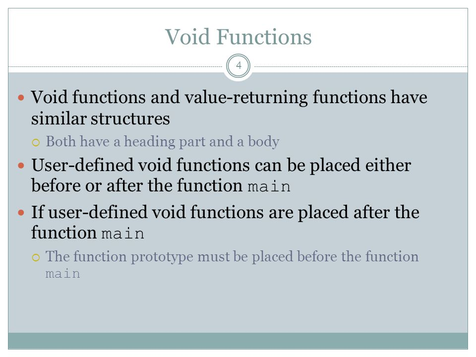Global Variables, Named Constants, and Side Effects 55