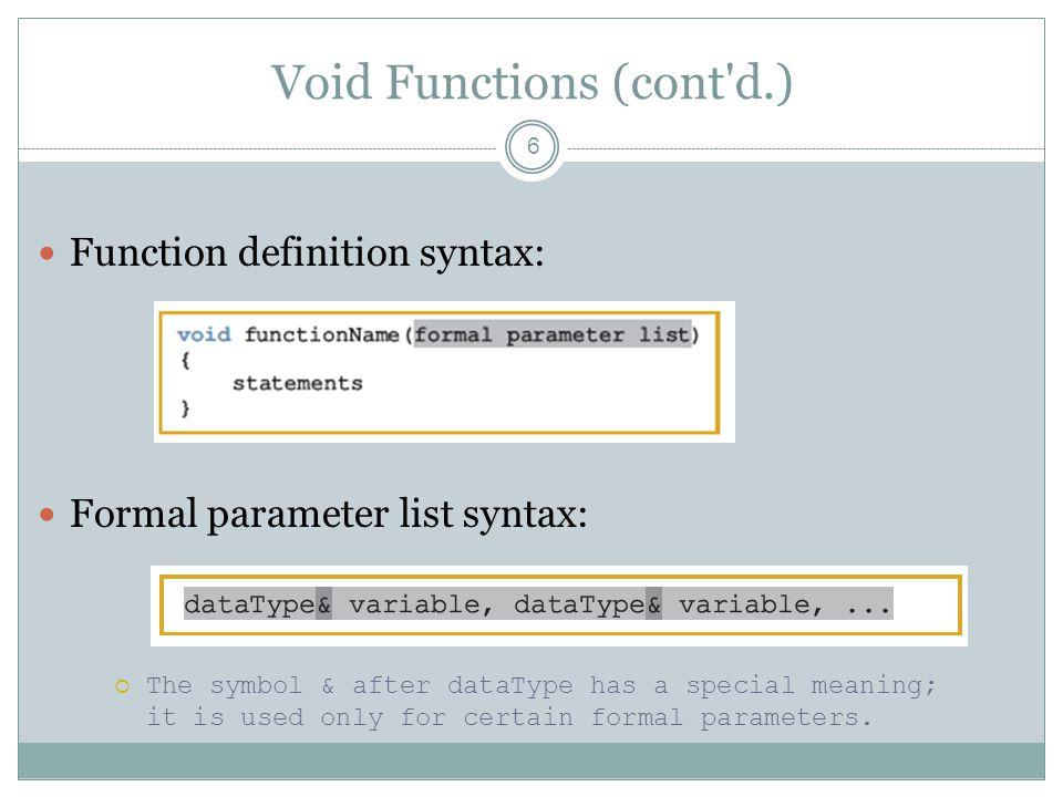 Value Parameters: Example 17