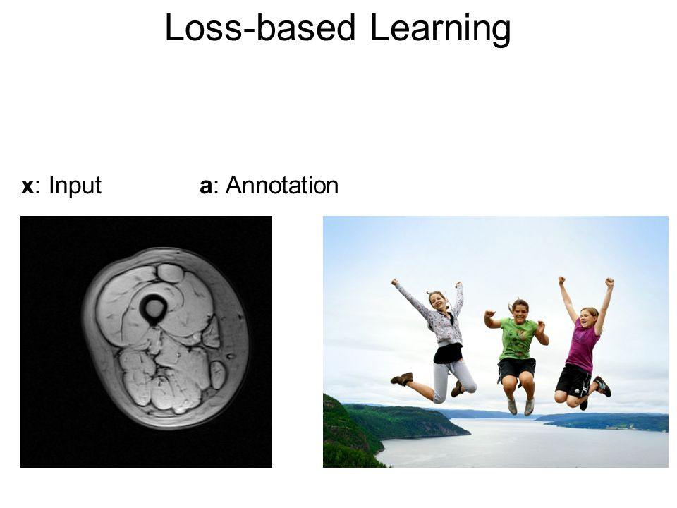 Loss-based Learning x: Inputa: Annotation