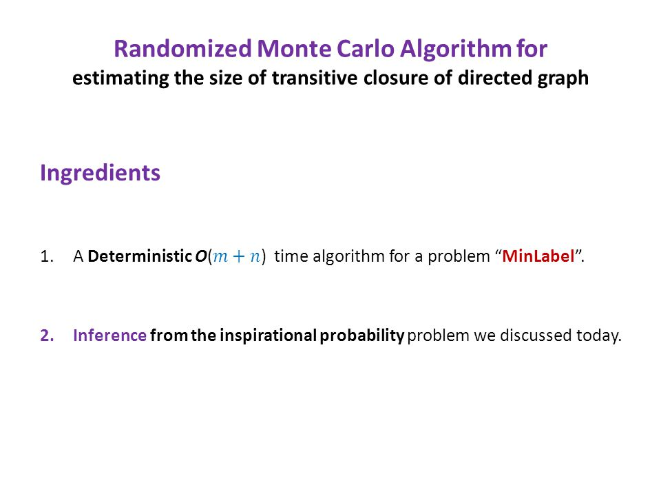 Randomized Monte Carlo Algorithm for estimating the size of transitive closure of directed graph