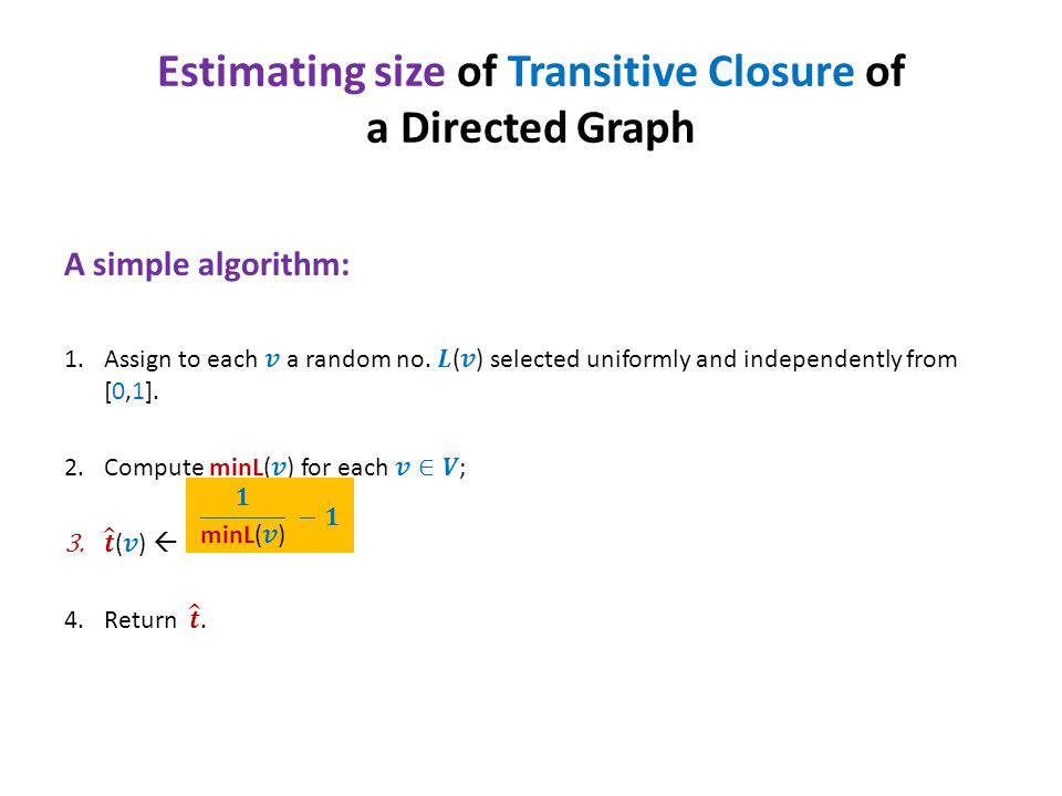 Estimating size of Transitive Closure of a Directed Graph
