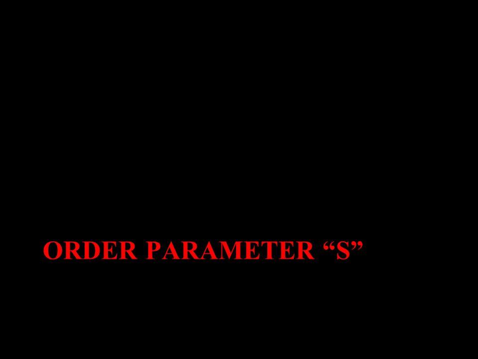 ORDER PARAMETER S