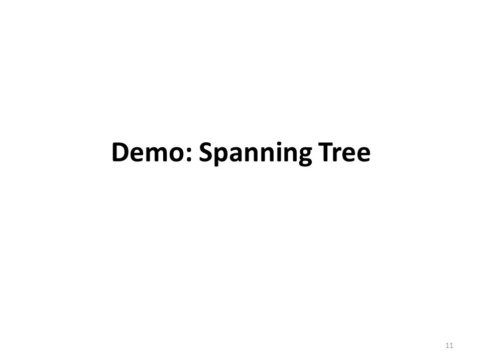 Demo: Spanning Tree 11
