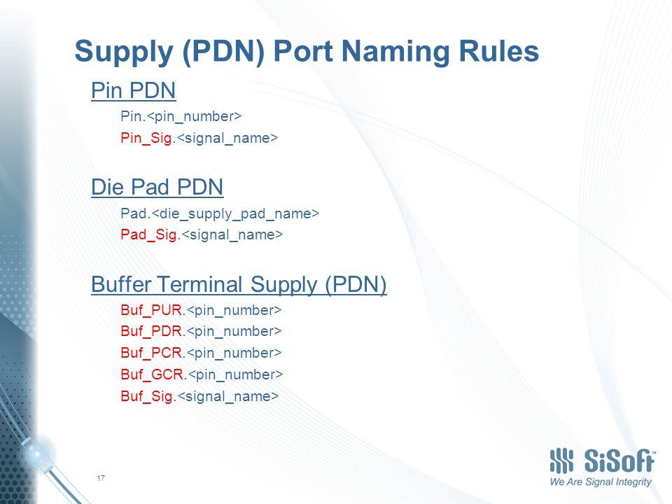 Supply (PDN) Port Naming Rules Pin PDN Pin.Pin_Sig.
