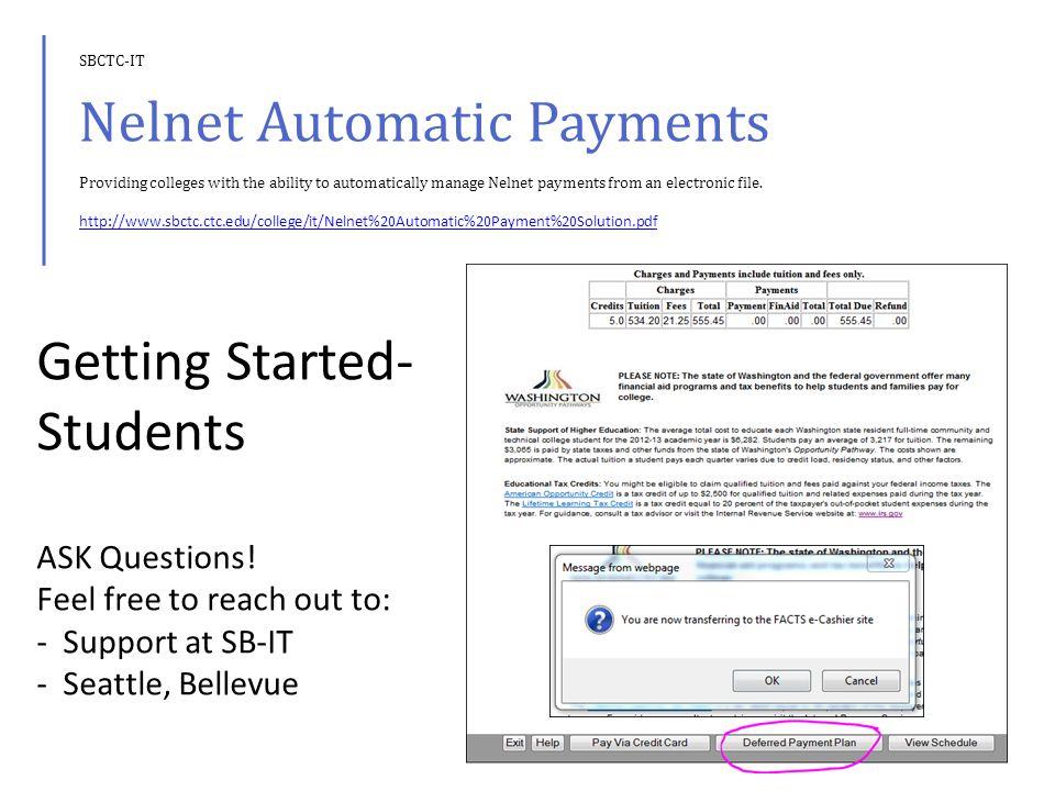 END OF QUARTER PROCESSING Job Group SG501R – Nelnet EOQ Bad Debt Process SM5302J – Nelnet EOQ Student Extract (See SBCTC-IT Guide) SM5303J – Nelnet Students Unpaid Fee Extract.