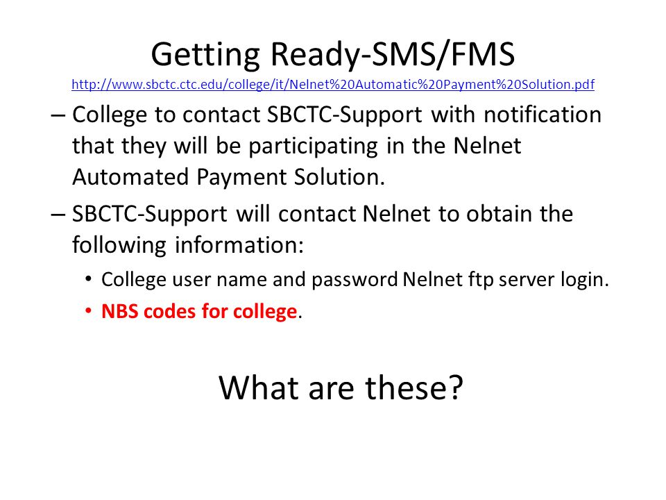NBS Codes The NBS Codes are 5 digit codes assigned by Nelnet.