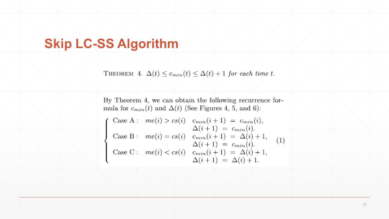 Skip LC-SS Algorithm 36