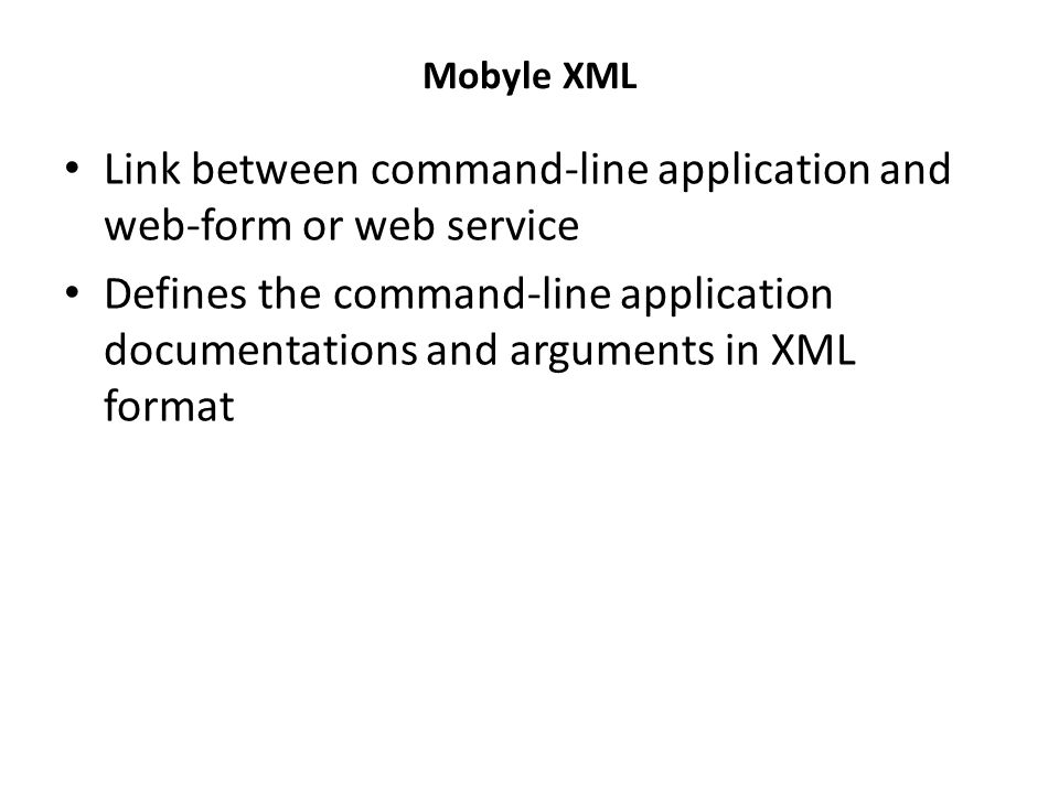 Mobyle Framework : Command-line Application to Web Application clustalw-mobyle.xml