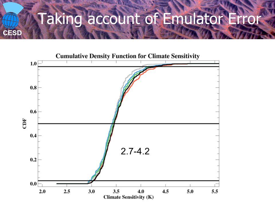 CESD Taking account of Emulator Error 2.7-4.2