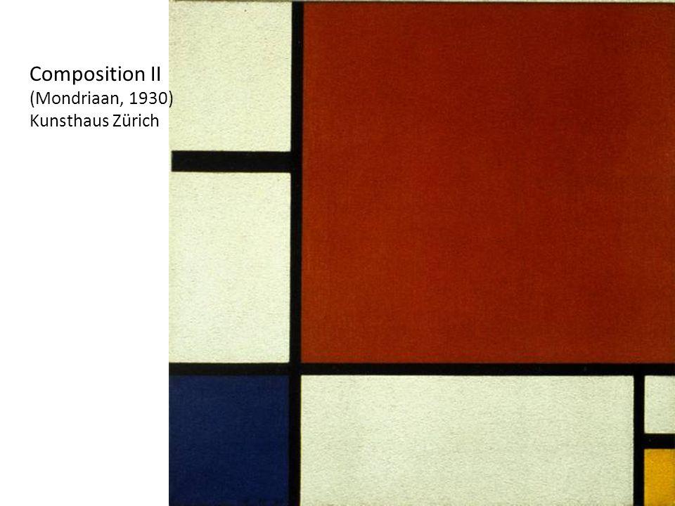 Composition II (Mondriaan, 1930) Kunsthaus Zürich
