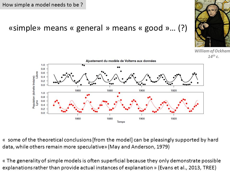 How simple a model needs to be .