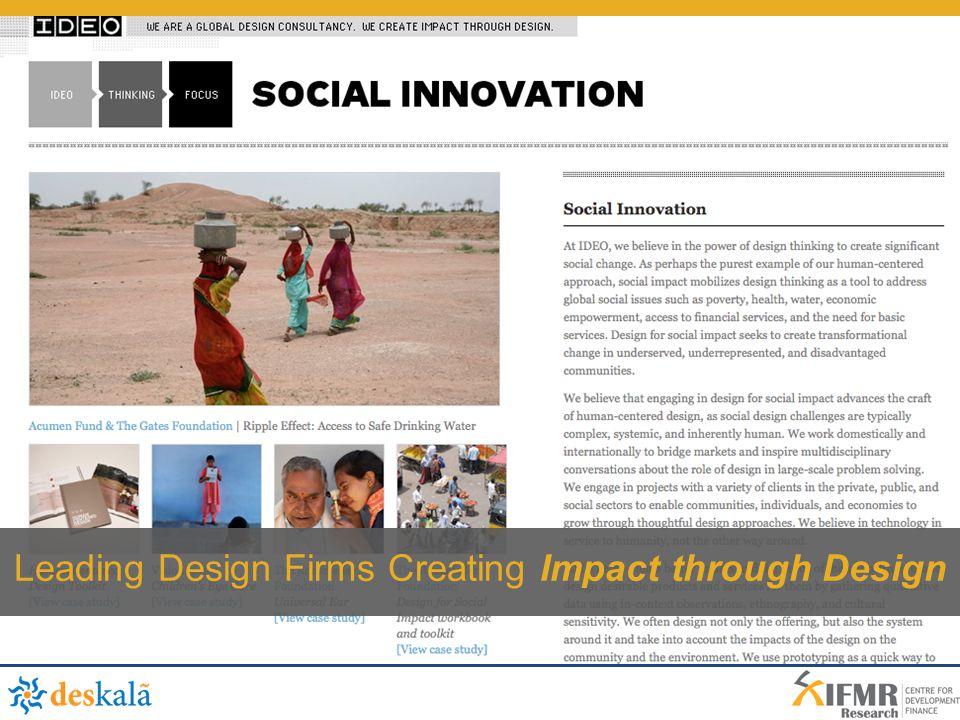 Leading Design Firms Creating Impact through Design