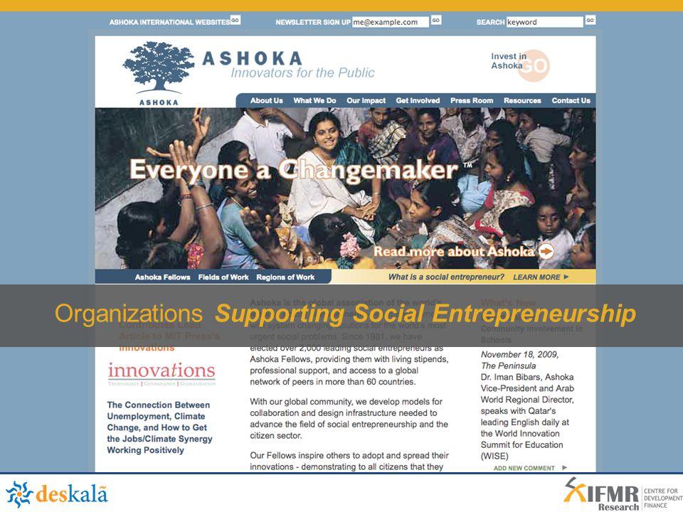 Organizations Supporting Social Entrepreneurship