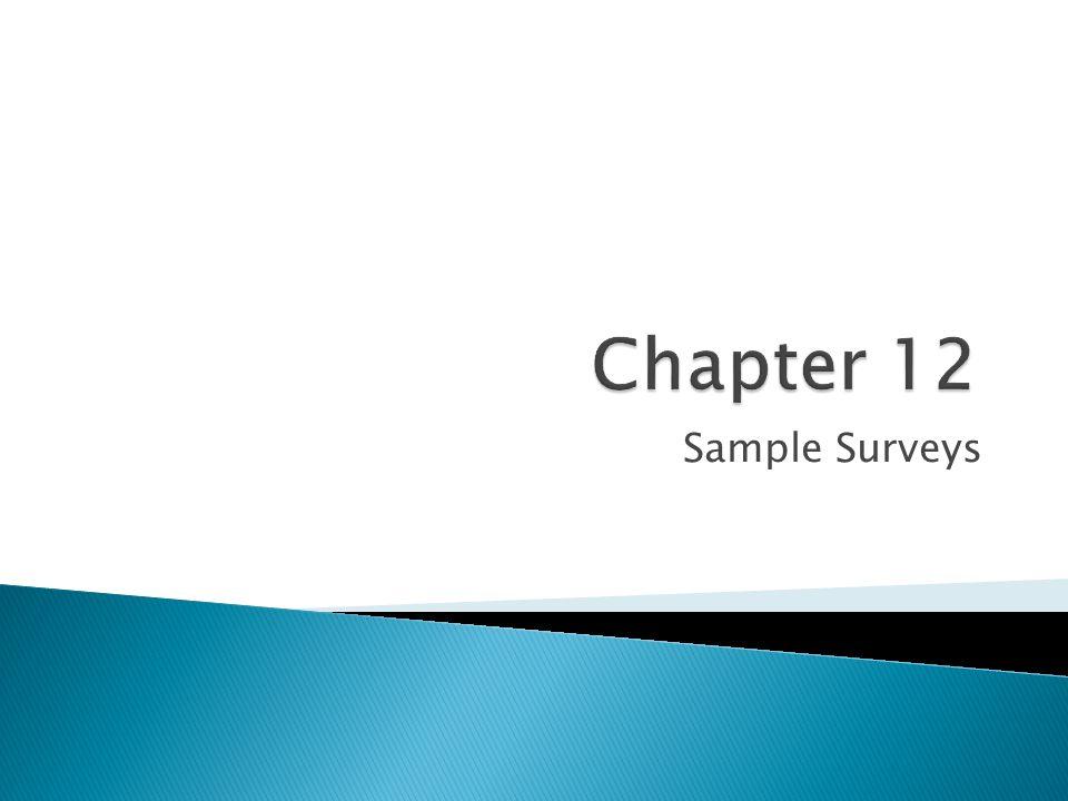 Sample Surveys