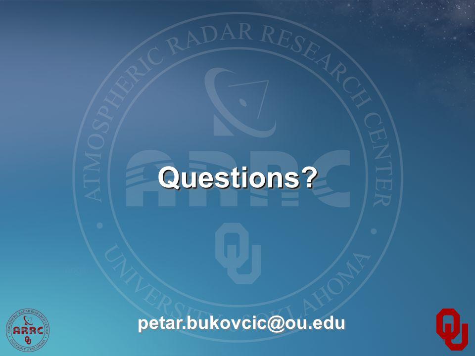 Questions?Questions? petar.bukovcic@ou.edu