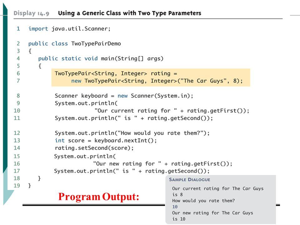 Programming With Java ICS201 Program Output: