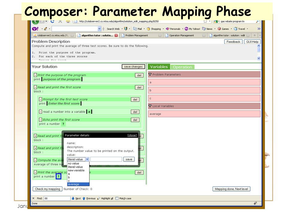 January 13, 3:35 PM Composer: Parameter Mapping Phase