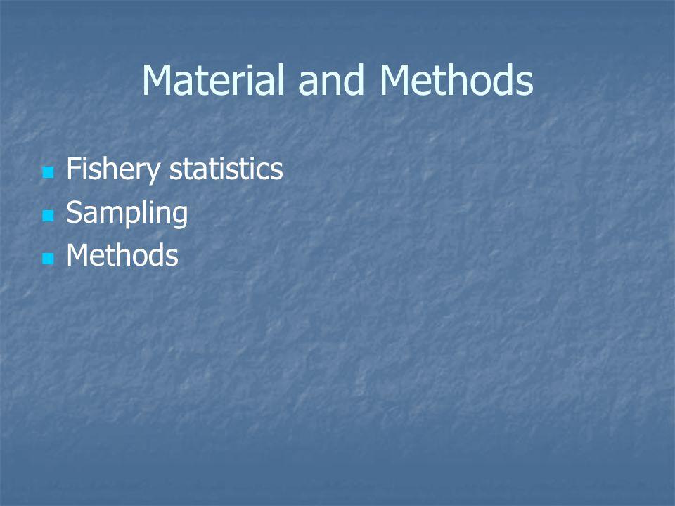 Material and Methods Fishery statistics Sampling Methods