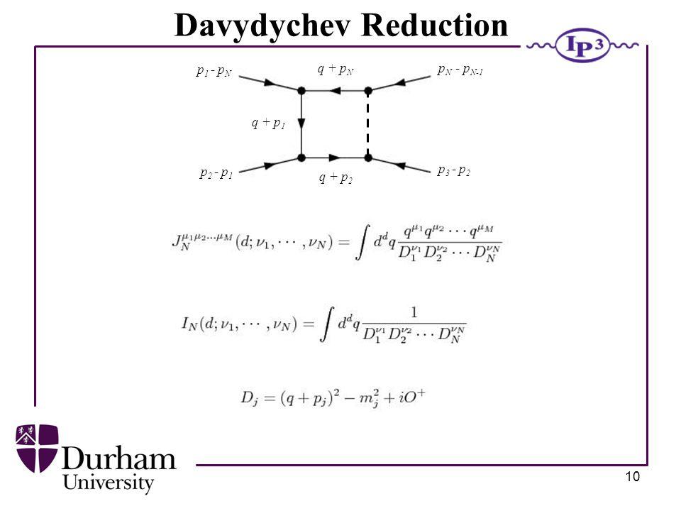 10 q + p 3 p 1 - p N p 2 - p 1 p 3 - p 2 p N - p N-1 q + p 1 q + p 2 q + p N Davydychev Reduction