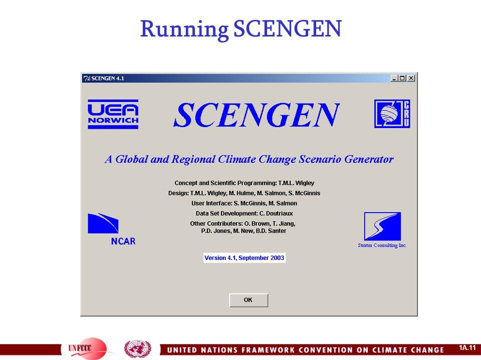 1A.11 Running SCENGEN
