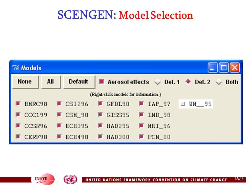 1A.14 SCENGEN: Model Selection