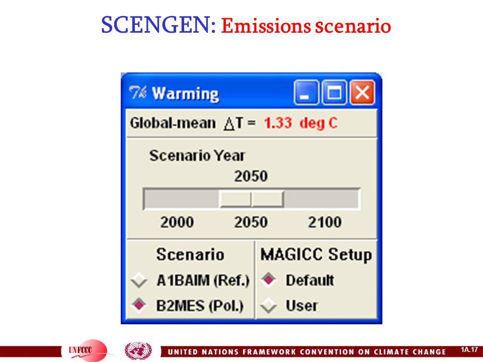 1A.17 SCENGEN: Emissions s cenario