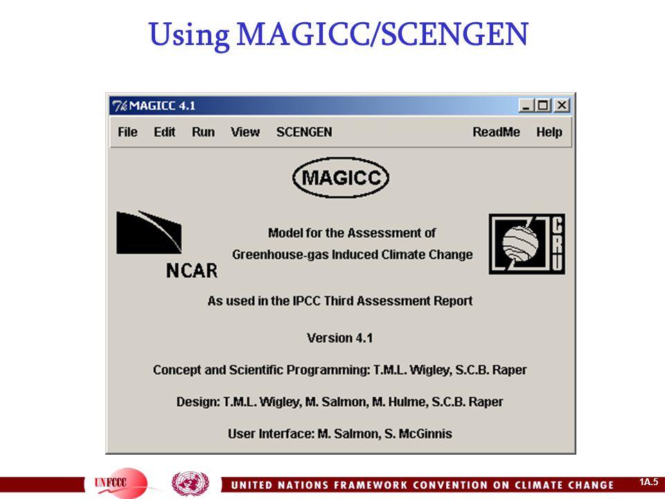 1A.5 Using MAGICC/SCENGEN