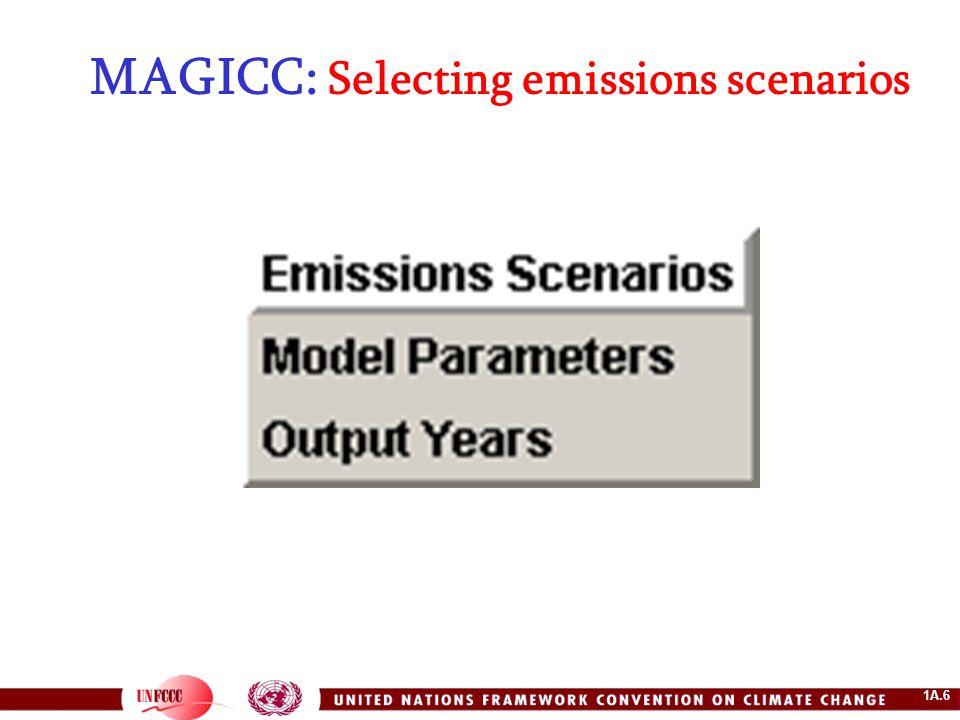 1A.6 MAGICC: Selecting emissions scenarios