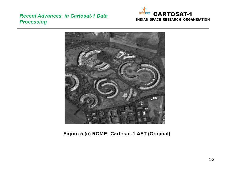 32 CARTOSAT-1 INDIAN SPACE RESEARCH ORGANISATION Recent Advances in Cartosat-1 Data Processing Figure 5 (c) ROME: Cartosat-1 AFT (Original)