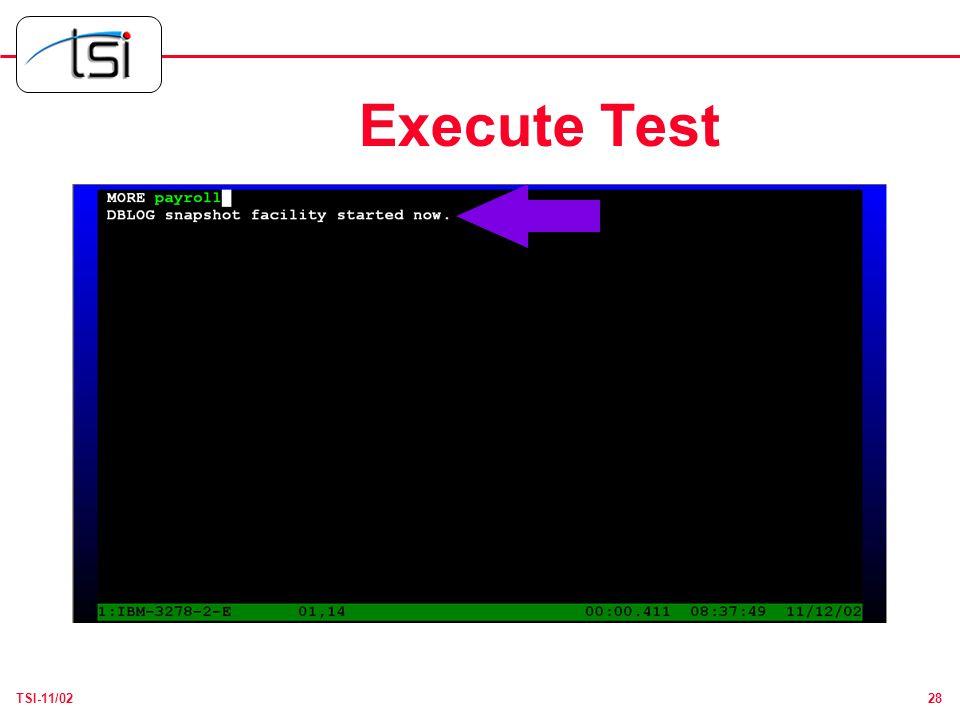 28TSI-11/02 Execute Test