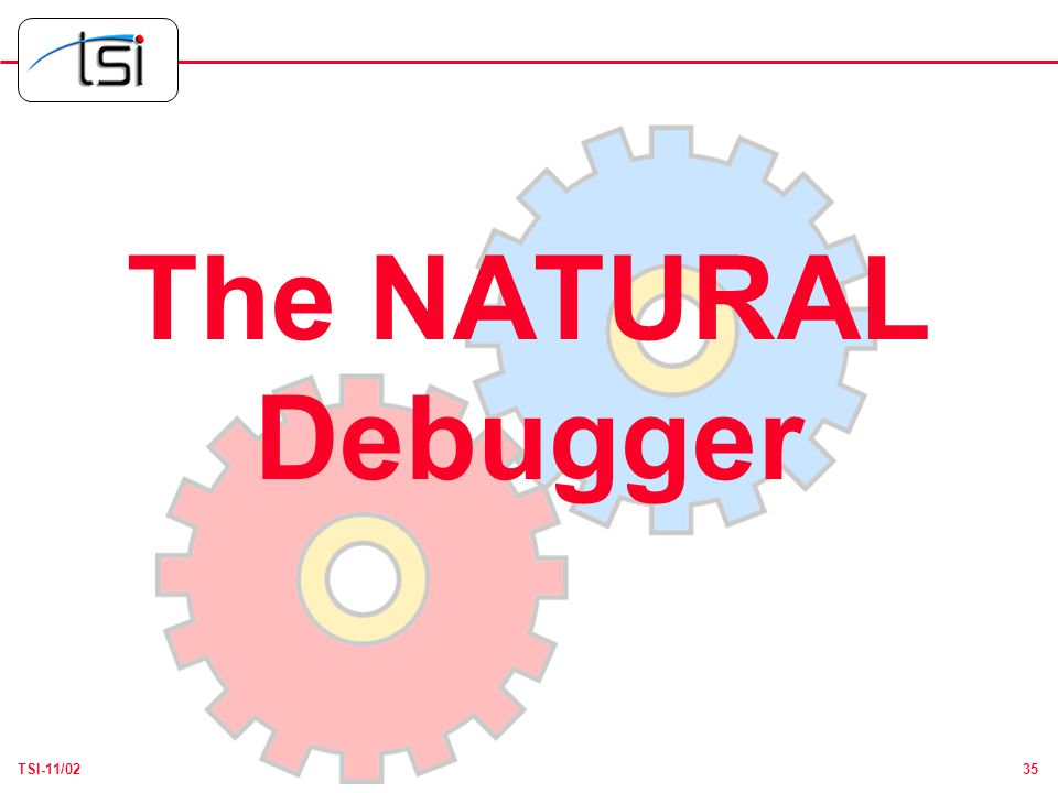 35TSI-11/02 The NATURAL Debugger