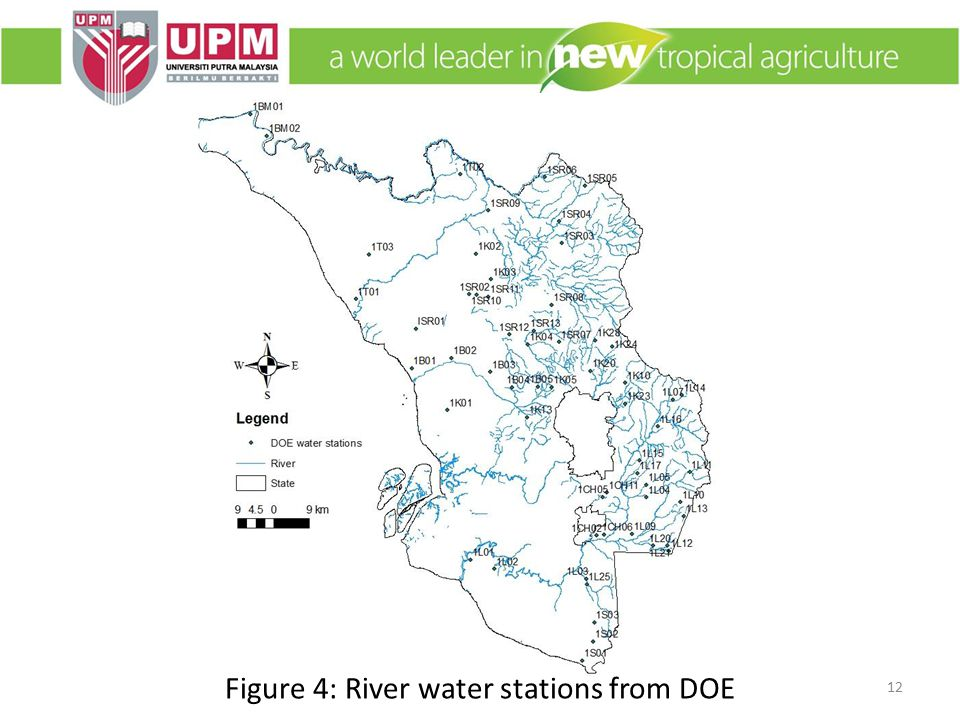 Figure 4: River water stations from DOE 12