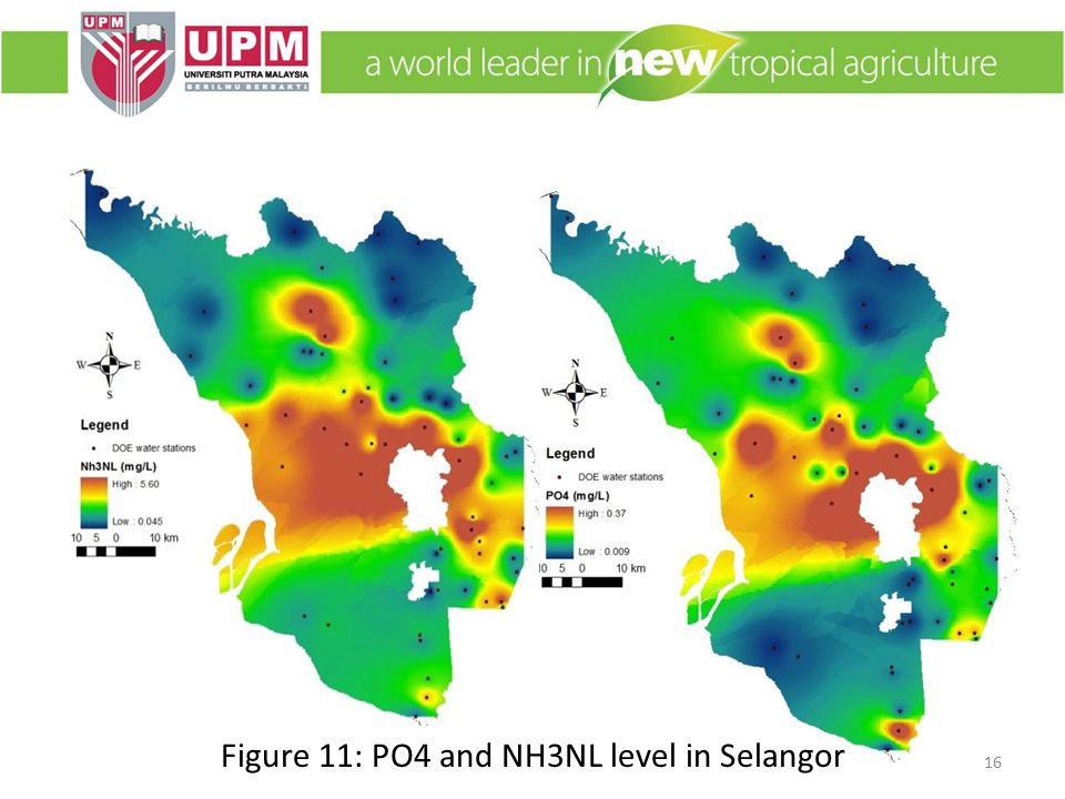 Figure 11: PO4 and NH3NL level in Selangor 16