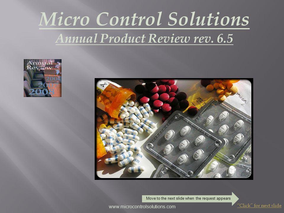 Interactive Modular Design Click for next slide www.microcontrolsolutions.com