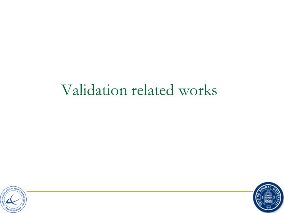 Validation related works