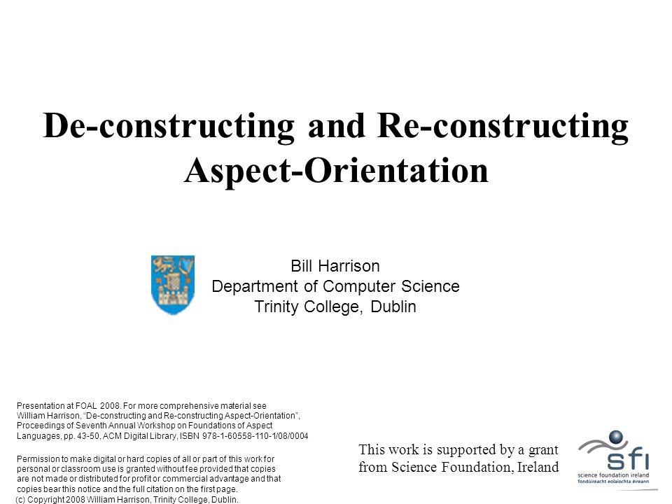 (c) Copyright 2008 William Harrison, Trinity College, Dublin.