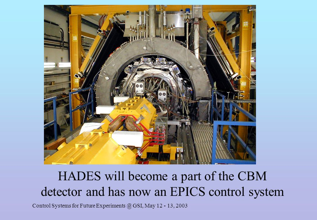 Control Systems for Future Experiments @ GSI, May 12 - 13, 2003 EPICS overview