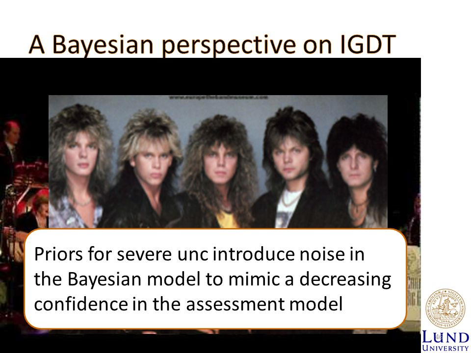 Priors for severe unc introduce noise in the Bayesian model to mimic a decreasing confidence in the assessment model 46