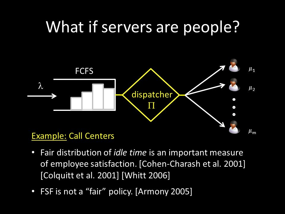 What if servers are people? Fair distribution of idle time is an important measure of employee satisfaction. [Cohen-Charash et al. 2001] [Colquitt et