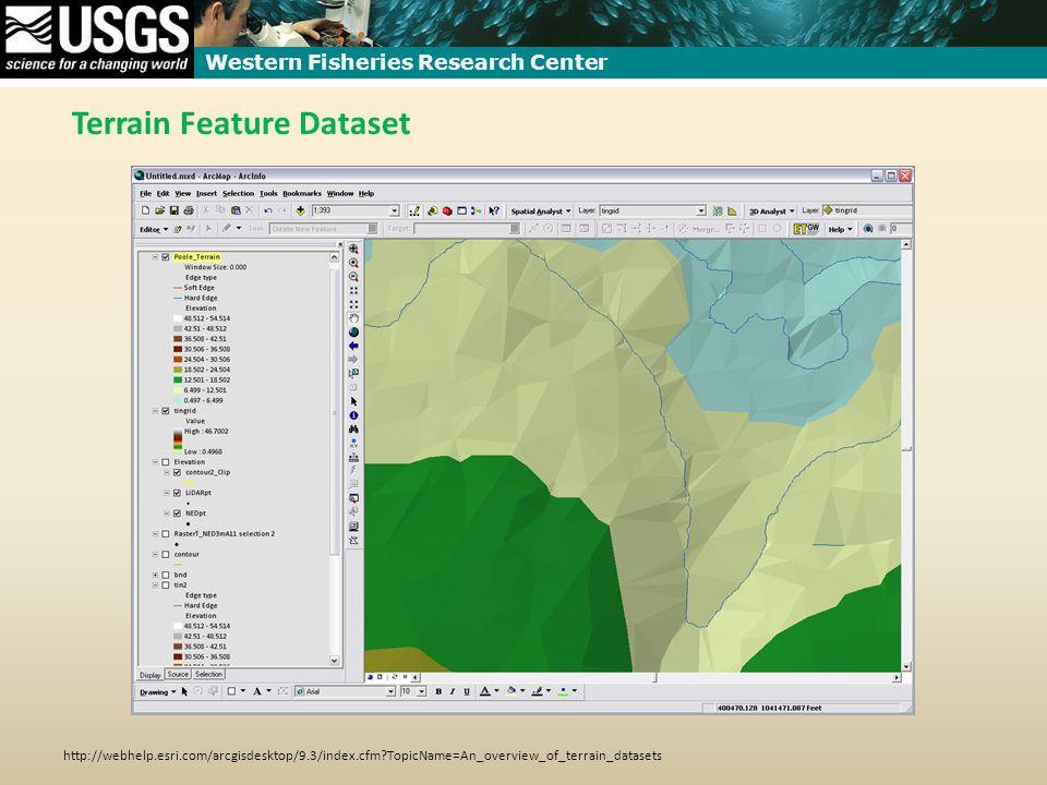 Western Fisheries Research Center Terrain Feature Dataset http://webhelp.esri.com/arcgisdesktop/9.3/index.cfm TopicName=An_overview_of_terrain_datasets