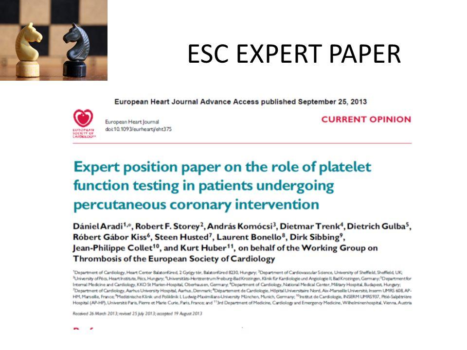 ESC EXPERT PAPER