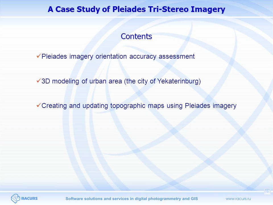 Pleiades imagery orientation accuracy: single images Image phr1a_p_201306010719533_sen_624609101-001 SchemeGCPs countOrient.