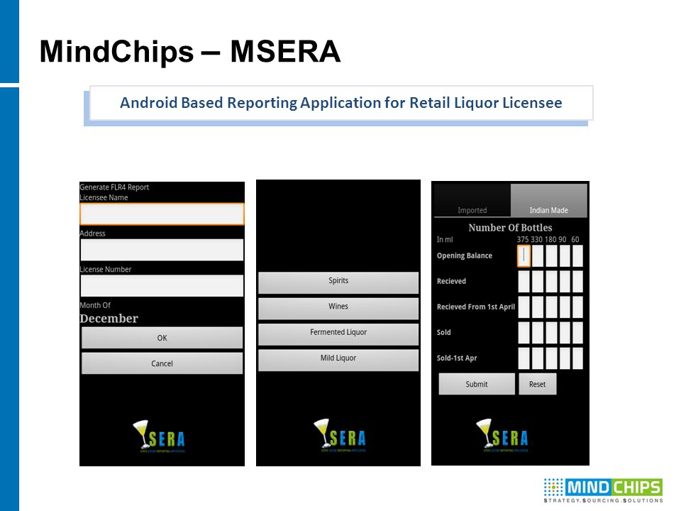 MindChips – MSERA Android Based Reporting Application for Retail Liquor Licensee