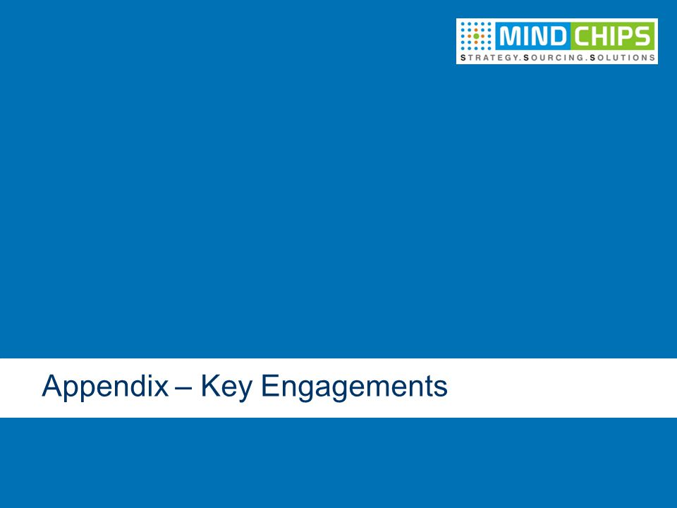 Appendix – Key Engagements
