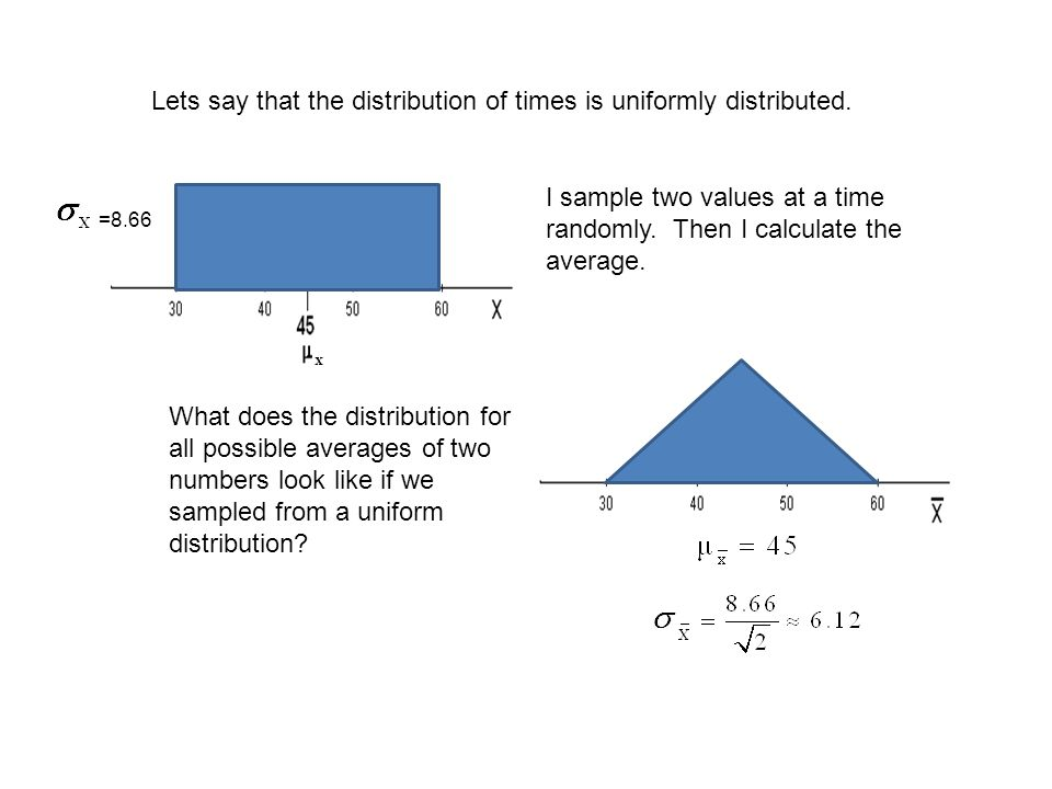 Lets say that the distribution of times is uniformly distributed.