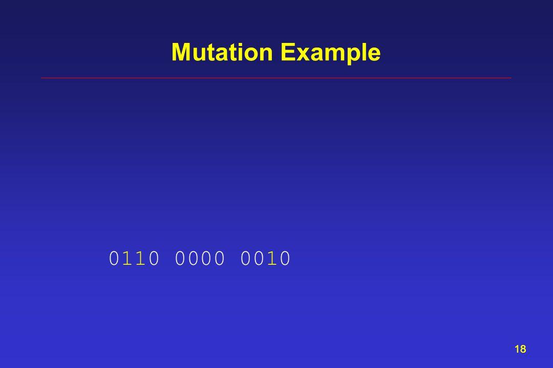 18 Mutation Example 0110 0000 0010